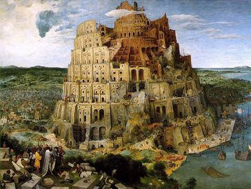 Der Turmbau zu Babel von Pieter Brueghel, 1563, Kunsthistorisches Museum Wien Bild: de.wikipedia.org