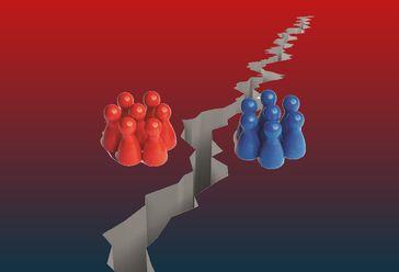 Spaltung der Gesellschaft: Negative Kräfte versuchen die Gesellschaft in viele kleine, leicht kontrollierbare, Teile zu spalten (Symbolbild)