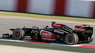 Kimi Räikkönen im Lotus E21 bei den Testfahrten vor der Saison in Barcelona.