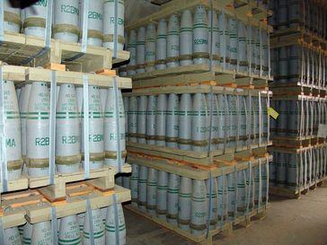 Chemiewaffen: 155-mm-Senfgasgranaten der US-Armee (Symbolbild)
