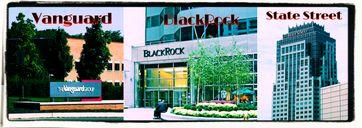 Die drei mächtigsten und einflußreichesten multinationalen Konzern dieses Planeten: Vanguard, BlackRock und State Street (Symbolbild)