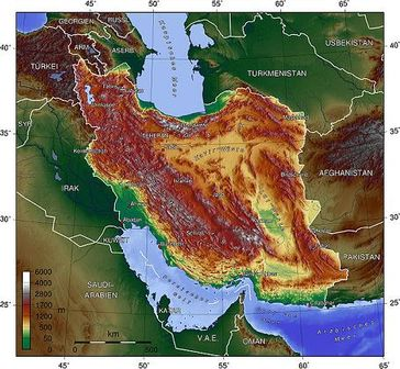 Topografische Karte Iran Bild: Captain Blood at de.wikipedia
