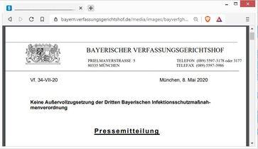 Bayern: Klage gegen Corona-Verordnung angenommen