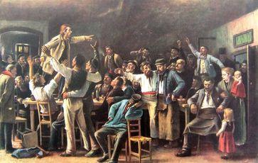 Streik Gemälde von Mihály von Munkácsy, 1895 (Symbolbild)