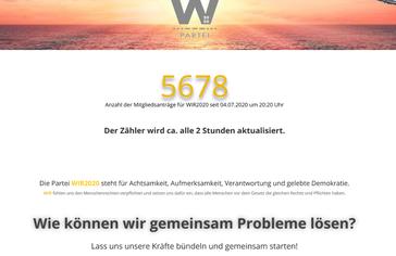 "Bild: Screenshot ""WIR2020"""