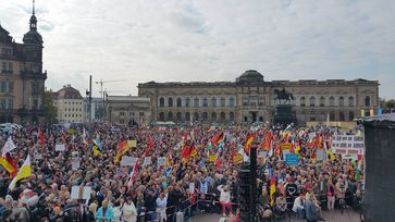 Pegida in Dresden am 16.10.2016