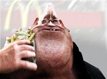 Junkfood lässt Gehirnleistung schrumpfen. Bild: Tommelom / pixelio.de