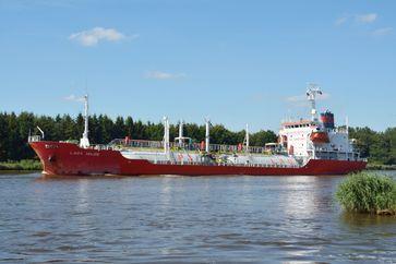 Flüssiggastanker auf dem Nord-Ostsee-Kanal