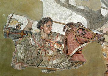 Alexander der Große (Mosaik, Pompeji, ca. 150–100 v. Chr.)