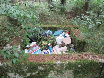 Illegale Müllablagerung Bild: Polizei