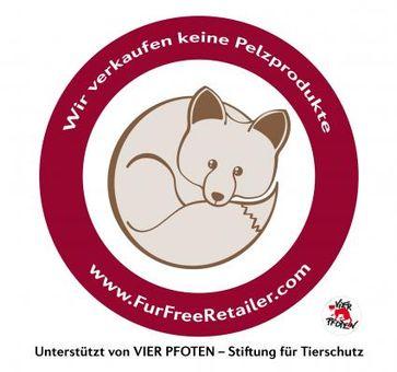 """Die internationale Initiative """"Fur Free Retailer"""" kennzeichnet Einzelhändler, die sich schriftlich zu einem Ausstieg aus dem Pelzverkauf verpflichtet haben. Bild: """"obs/LIDL/Vier Pfoten"""""""