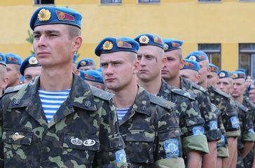 Ukraine: Soldaten der 95. luftbeweglichen Brigade im Juli 2012