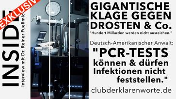 "Bild: Screenshot Video: ""Exklusiv-Interview: Gigantische Klage gegen Prof. Christian Drosten & Umfeld."" (https://youtu.be/gvB0vuM5bek) / Eigenes Werk"