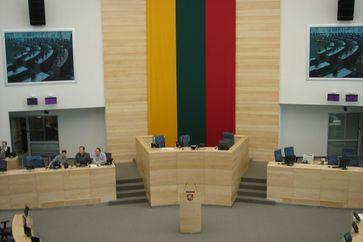 Plenarsaal des litauischen Parlaments