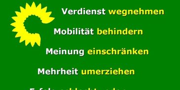 Bündnis90 / Die Grünen: bei der überwältigenden Mehrheit der deutschen Bevölkerung in der Dauerkritik (Symbolbild)