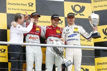 Jamie Green, Audi RS5, Timo Scheider, Audi RS5, Maxime Martin, BMW M4 Bild: DTM
