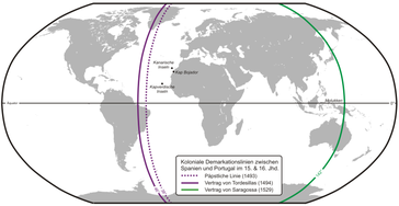 Die Aufteilung der Welt zwischen Spanien und Portugal
