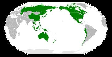 Mitglieder der Asiatisch-Pazifische Wirtschaftsgemeinschaft APEC
