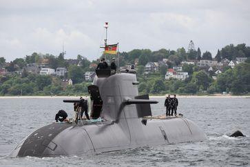 Das Uboot 35 läuft am 12.06.21 aus dem Heimathafen Eckernförde aus. Bild: Bundeswehr