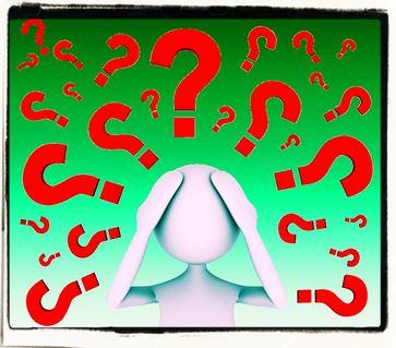 Fragezeichen, Ahnungslos & Grübeln (Symbolbild)
