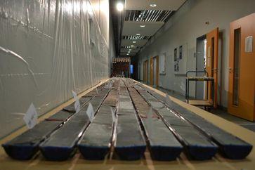 Die untersuchten Bohrkerne aus dem Bighorn Basin Quelle: Foto: Bianca Maibauer, University of Utah (idw)