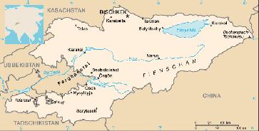 Karte von Kirgistan Bild: de.wikipedia.org