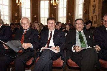 "Edmund Stoiber, Prof. Dr Wolfgang Heckl, Mario Ohoven. Bild: ""obs/BVMW/API (c.) Michael Tinnefeld"""