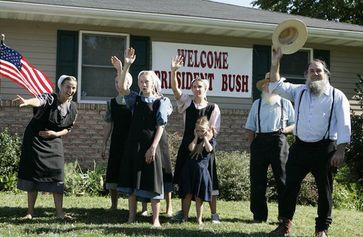 Eine Gruppe von Amische (Amish)