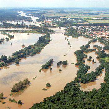 Elbhochwasser 2002. Bild: Bernd Lammel / WWF
