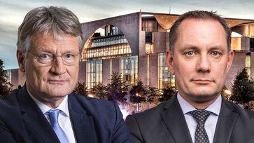 Prof. Dr. Jörg Meuthen MdEP und Tino Chrupalla MdB, AfD-Bundessprecher (2020)