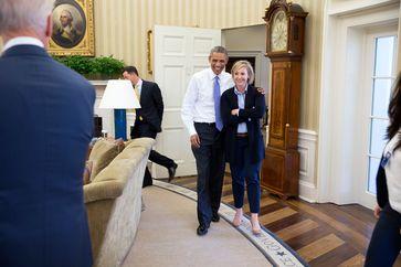 Anika Decker und Barack Obama (2014), Archivbild