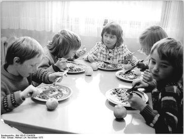 Schulspeisung in Thüringen, 1975