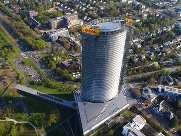Deutsche Post Tower aus der Vogelperspektive