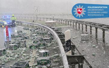 Verkehrsunfall Autobahndreieck Stuhr Bild: Polizei