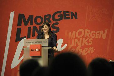 Johanna Uekermann (2013) Bild:  Jusos de - Flickrview