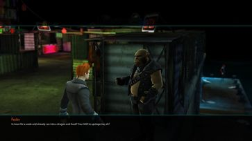 Eine Szene aus dem Computerspiel Shadowrun Chronicles