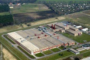 Luftbild der Urananreicherungsanlage der Urenco Deutschland GmbH in Gronau (Kreis Borken). Bild: Bernd Thissen