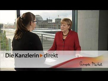 """Screenshot aus dem Youtube Video """"Merkel: """"Jugend forscht"""" fördert Exzellenz"""""""