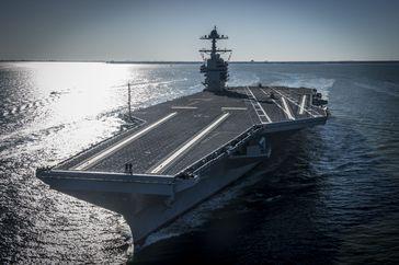 USS Gerald R. Ford (CVN-78) im April 2017