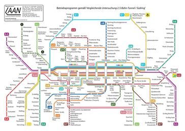 """Planungsalternative """"Zweiter Tunnel"""" für die 2. Münchener S-Bahn Stammstrecke. Bild: Maximilian Dörrbecker / wikipedia.org"""