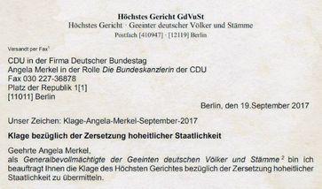 Geeinte deutsche Völker und Stämme: Sie kritisierten die Kanzlerin