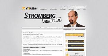 Screenshot Ausschnitt der Webadresse www.Stromberg-Der-Film.de auf der Interessierte alle Infos zum Projekt, zum Investment und zum Film finden.