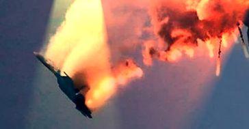 Abschuß eines Militärjets (Symbolbild)