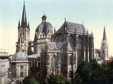 Der Aachener Dom um 1900 Bild: de.wikipedia.org