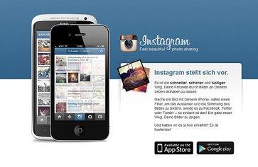 Screenshot der Webseite von Instagram