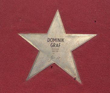 Stern von Dominik Graf auf dem Boulevard der Stars in Berlin