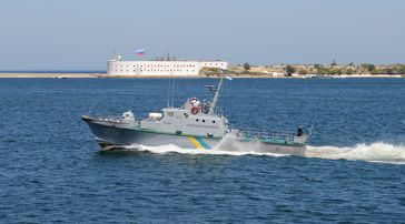 Ukrainian Navy artillery boat Zhuk class U170 Skadovs'k. (Symbolbild)