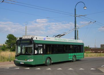 Der Oberleitungsbus Landskrona in Schweden