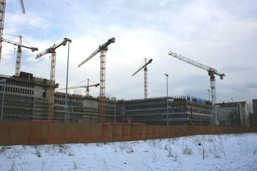 Baustelle der Zentrale des Bundesnachrichtendienstes