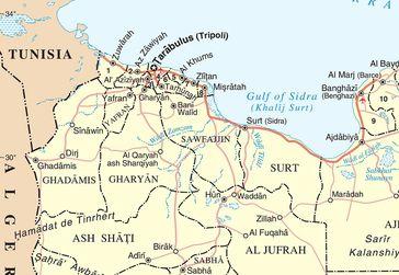 Bani Walid auf Libyen-Karte. Bild: wikipedia.org
